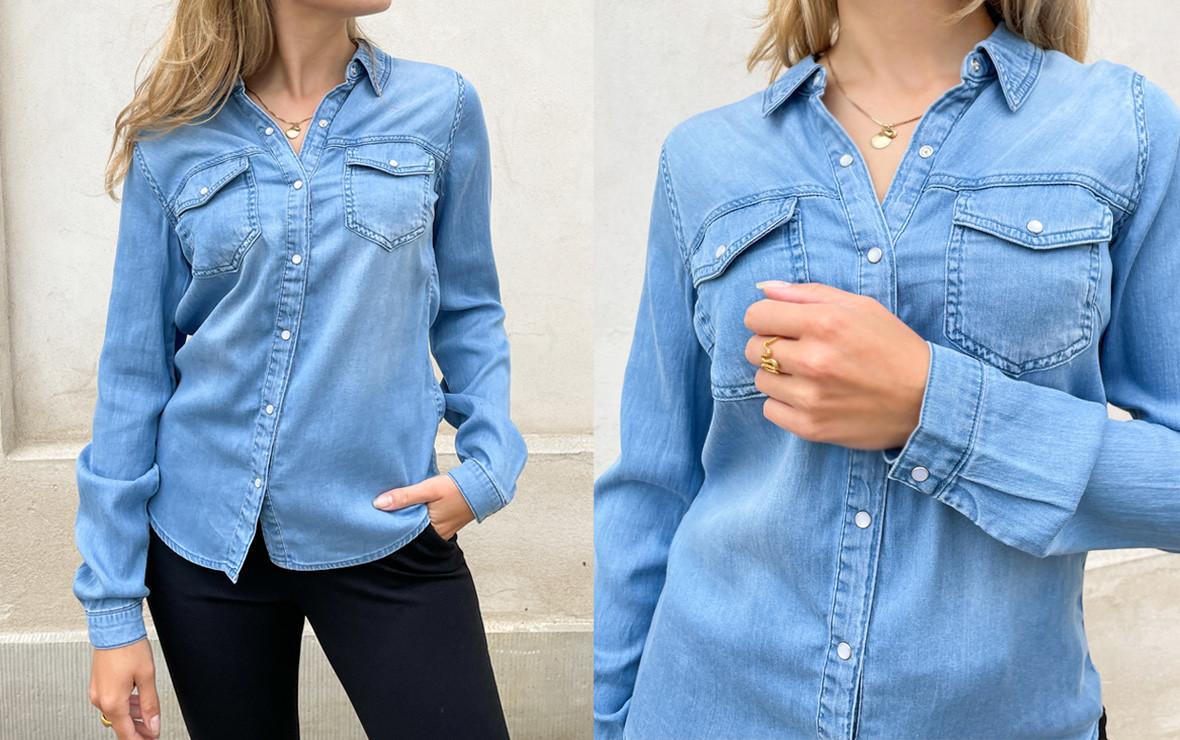 Denim skjorter - Se de flotte denim skjorter til damer