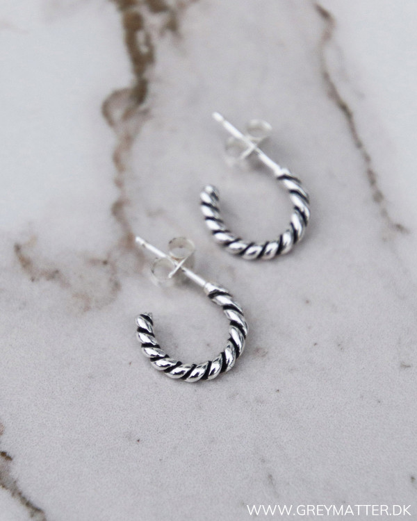 Twisted Silver Earring