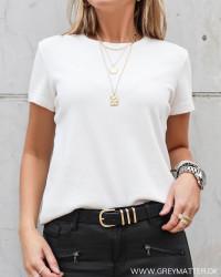 Yasshani Star White O-Neck T-Shirt
