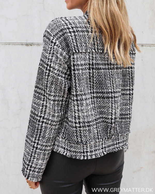 Neo Noir jakke i sort og hvid