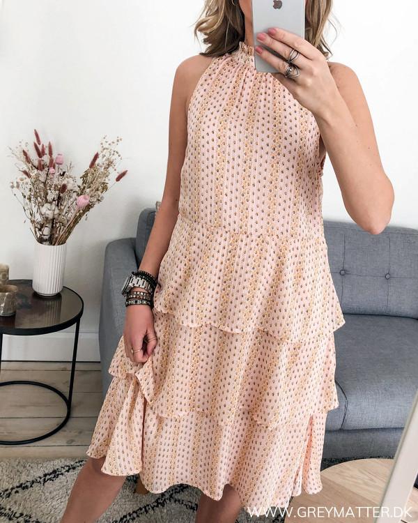 Vila kjole i rosa med print