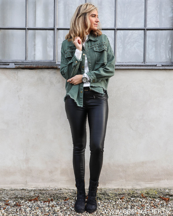 Cool Army Studs Jacket