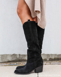 Tomaia Velour Western Nero Boots