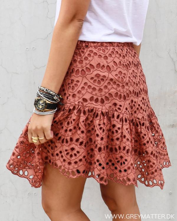 Broderie nederdel fra YAS