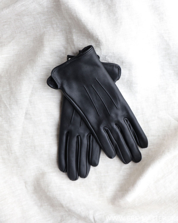Pieces Pcnellie Black Leather Gloves