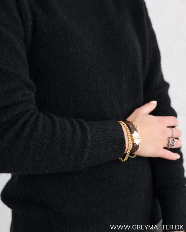 Neo Noir bluse sort til damer