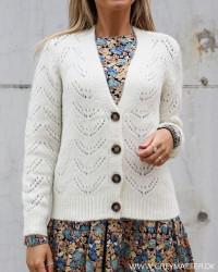 Pcbibi Cloud Dancer Knit Cardigan