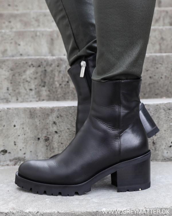 Sorte vinter støvler til damer fra Apair