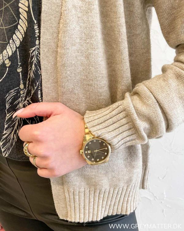Viril Short Natural Melange Knit Cardigan