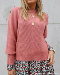 Kelsey Rose Melange Knit Blouse