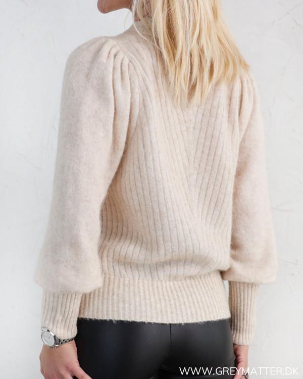 Neo Noir Kelsey Sand Melange Knit Blouse