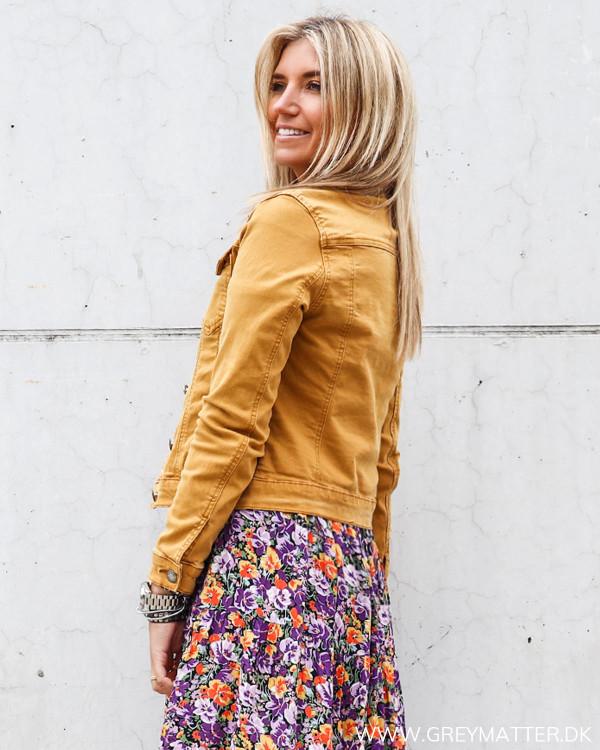 Orange gul jakke til damer