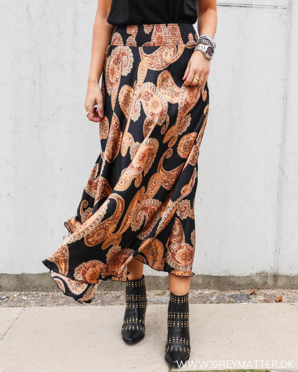 Karmamia nederdel med paisley print