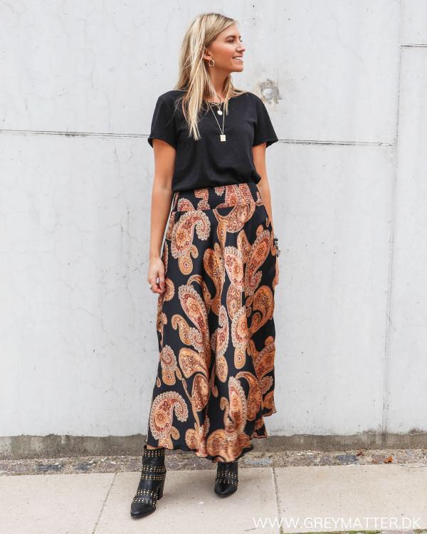 Nederdel med paisley print