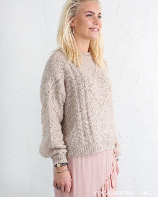 Yas Yaslola Tawny Brown Knit Pullover