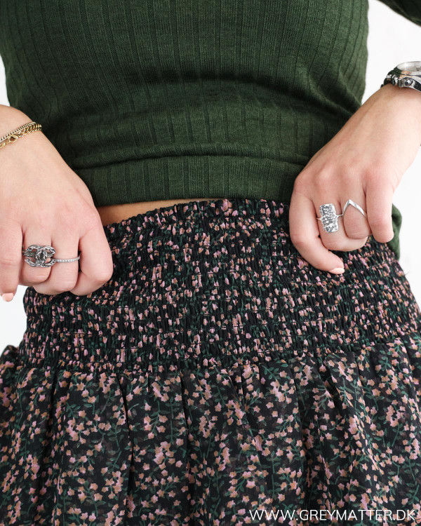 YAS nederdel med elastik i taljen