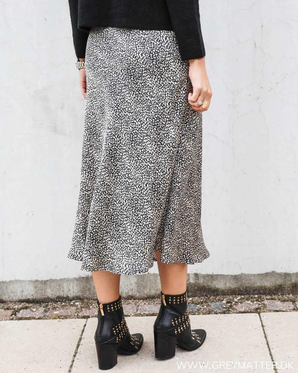 Bovary nederdel fra Neo Noir i sort hvid print
