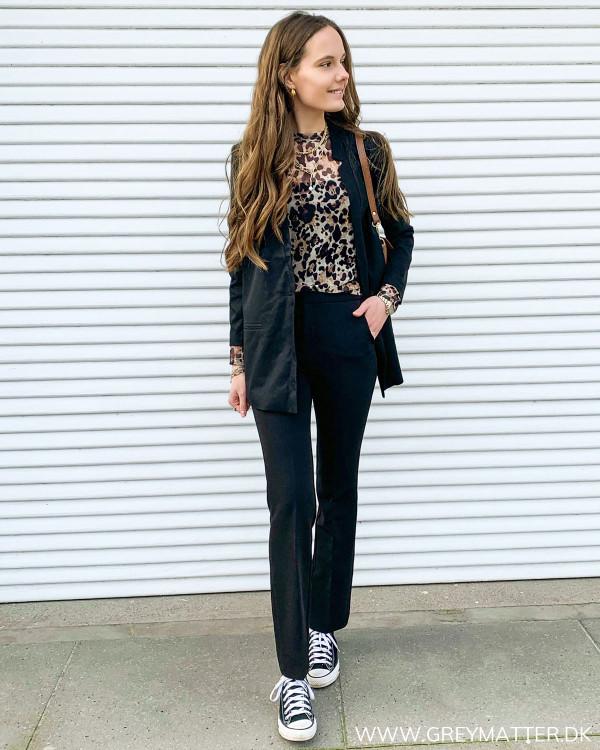 Heather Black Pants
