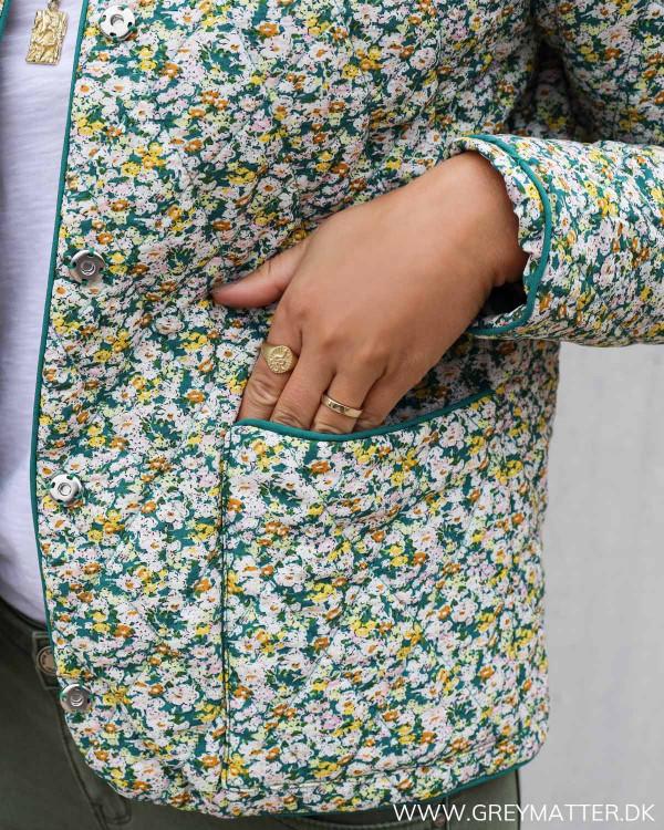 Pieces jakke i grønne farver