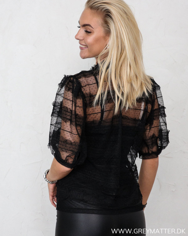Vila Vilightly Puff Sleeve Lace Top