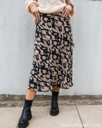 Bovary Big Graphic Black Skirt