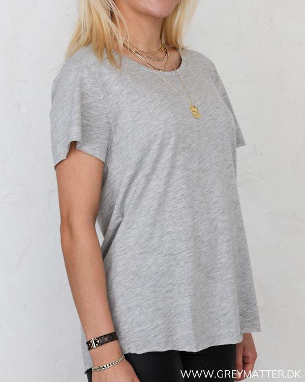 Grå T-shirt til damer