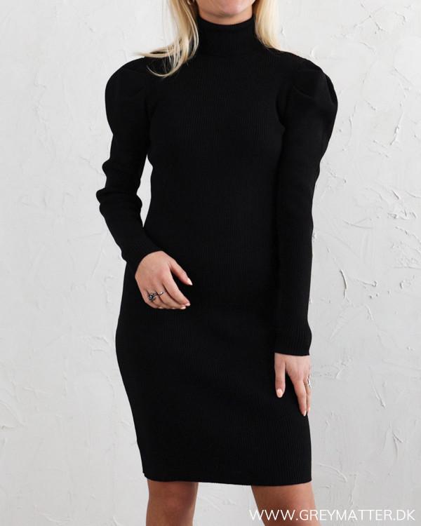 Vila Vicharlotta Black Rollneck Knit Dress