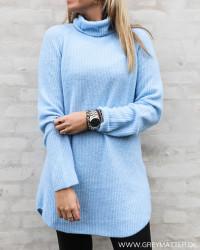 Pcellen Blue Long Knit