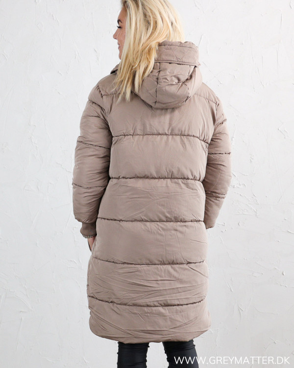 Pieces Pcsevigne Taupe Gray Padded Jacket