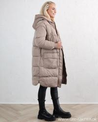 Pcsevigne Taupe Gray Padded Jacket