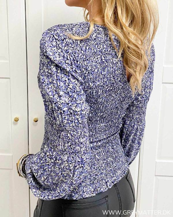 Pieces bluse med print