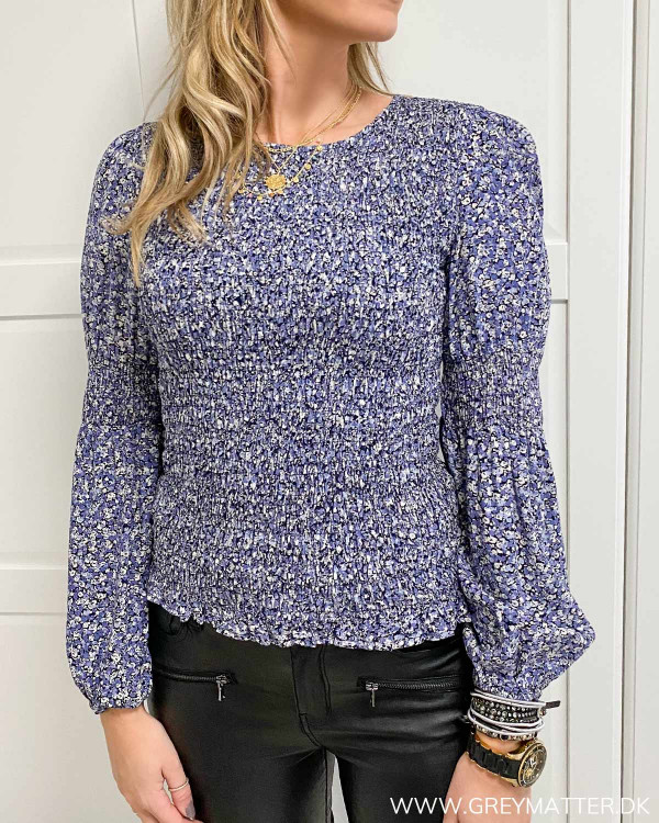 Pieces bluse med blomsterprint