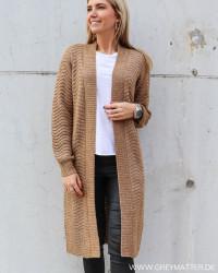 Yasbetricia Long Knit Rubber Cardigan