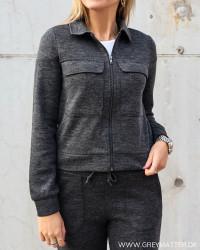 Vimany Dark Grey Melange Cardigan