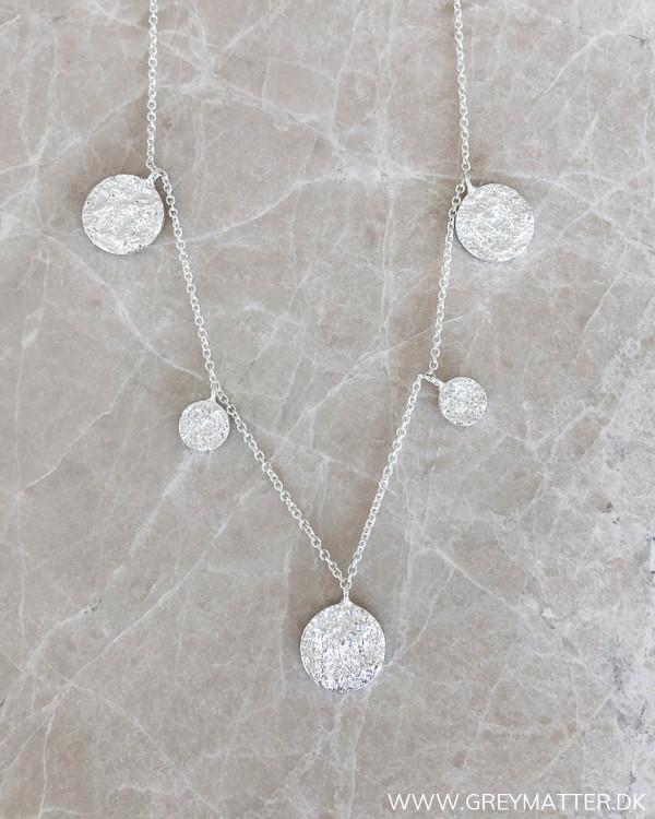 Five Pendants Silver Necklace