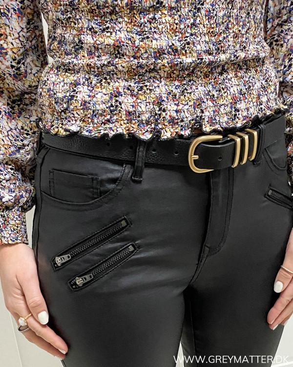 Vila Vicommit Black Coated Zip Pants