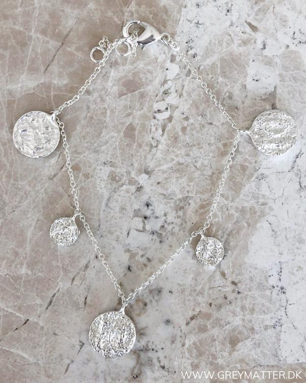 Five Pendants Silver Bracelet