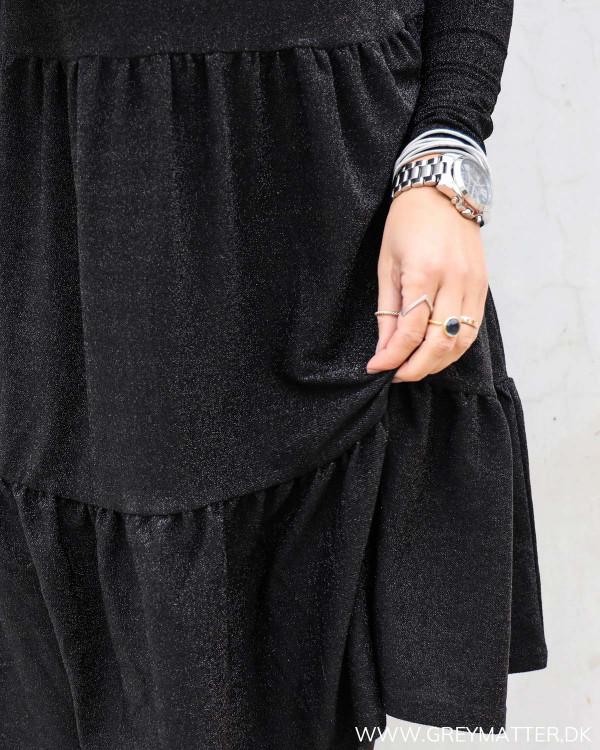 Viglowa Glitter Black O-Neck Dress