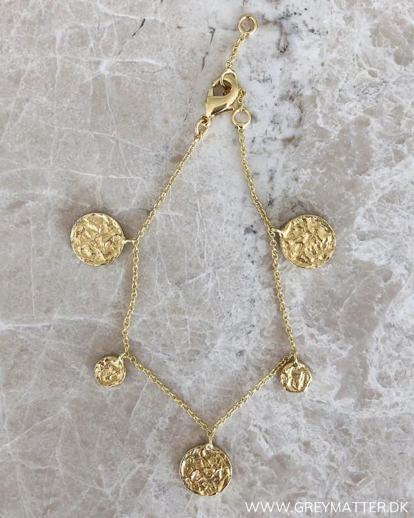 Five Pendants Golden Bracelet