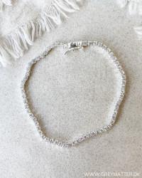 Elegant Zircon Silver Bracelet