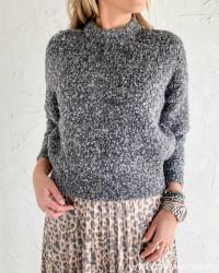 Pcdeepy Light Grey Melange Knit