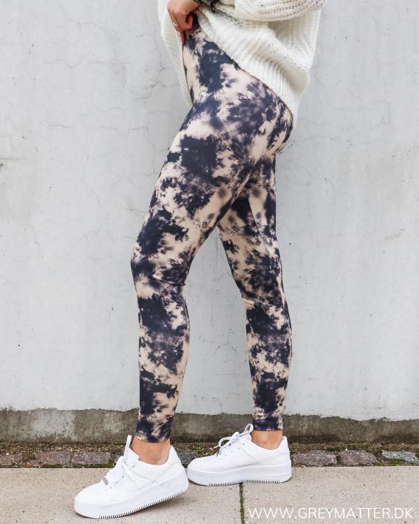 Sport leggings til damer med tie dye