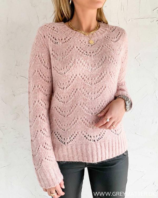 Pieces trøje i lyserød