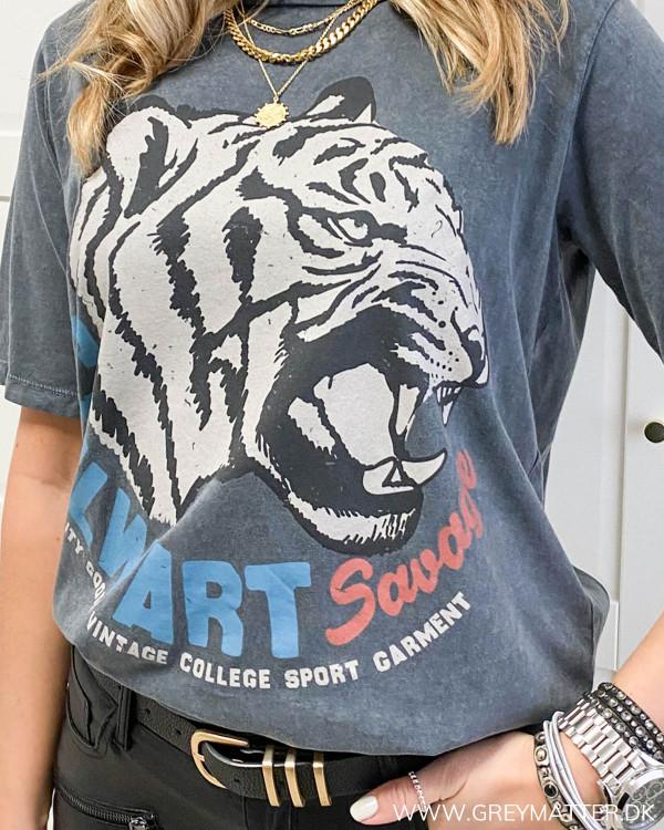 T-shirt med tiger print