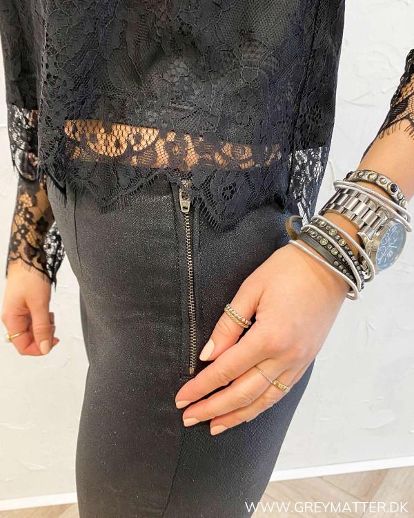 Pcskin Black Glitter Coated Legging