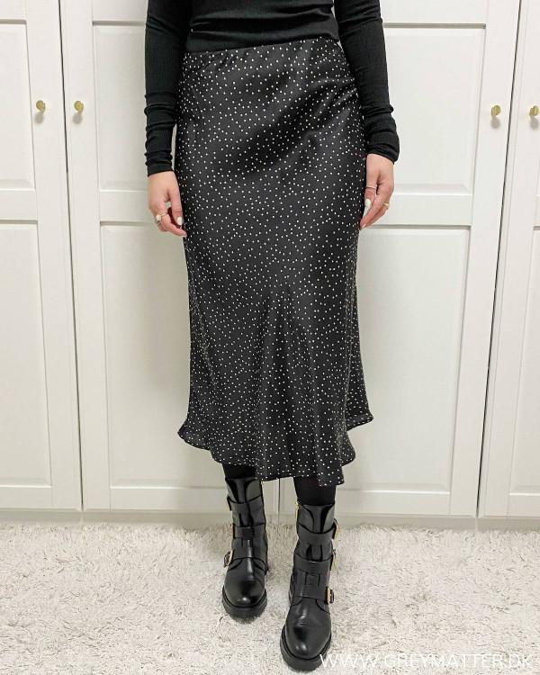 Neo Noir bovary nederdel med prikker
