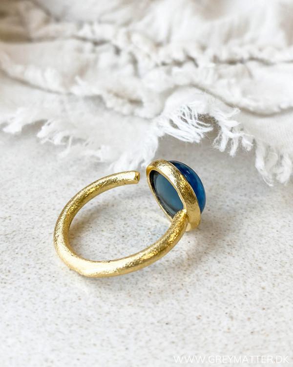 Ring med blå sten fra Pure By Nat
