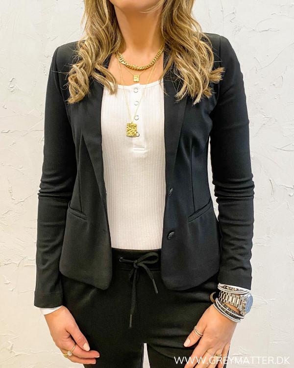 Suit jakke til damer i sort