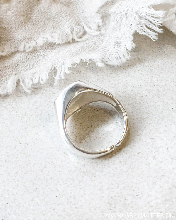 Silver ring signet pure by nat