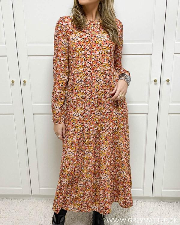 Pieces kjole med lange ærmer og print